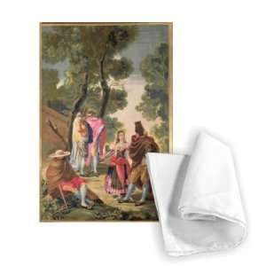 The Pretty Woman and the Masked Men (The..   Tea Towel 100