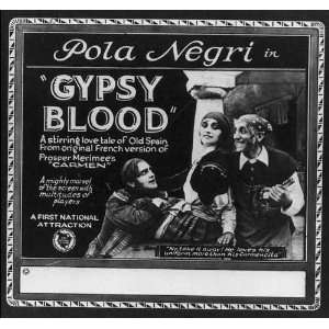 Pola Negri in Gypsy Blood, c1921, Silent Film Actress