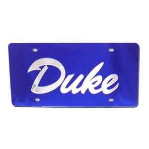 Duke Blue Devils Blue W/Silver DUKE OLD ENGLISH Mirror License Plate