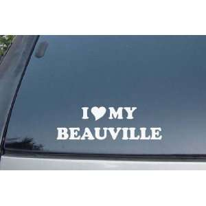 I Love My Beauville Vinyl Decal Stickers