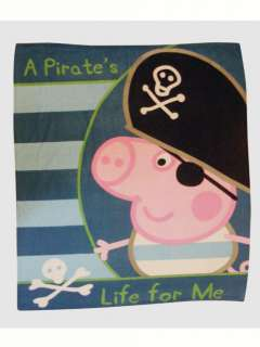 Peppa Pig George Pirate Fleece Blanket 120cm x 150cm
