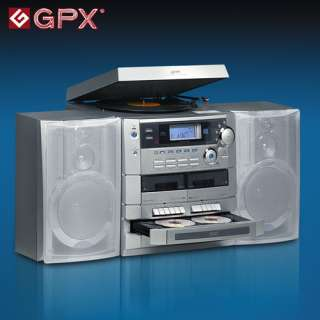 Heartland America GPX 5CD Shelf Stereo System With Turntable