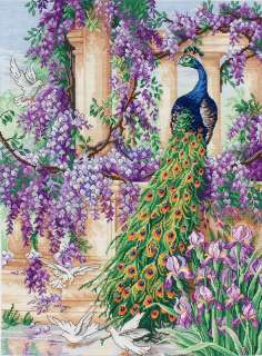 Counted Cross Stitch   The Peacock Counted Cross Stitch Kit   16X12