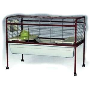 Extra large indoor rabbit guinea pig cage ferplast rabbit 140 for Guinea pig stand