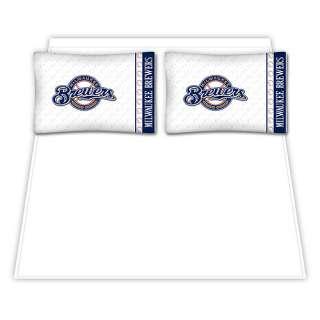 Milwaukee Brewers MicroFiber Full Sheet Set   MLB Shop