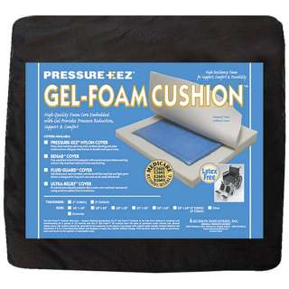 Hudson Pressure Eez Gel Foam 18x18 Nylon Wheelchair Seat Cushion