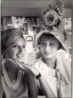 Actress Sophia Loren Holding the Chin of Her Sister, Maria Scicolone