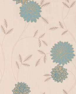 17725 Superfresco Colours Shaan Light Blue,Cream,Gold,Beige Floral
