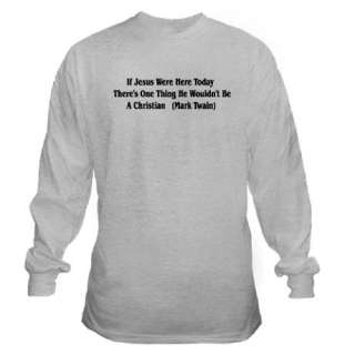 Mark Twain Jesus Quote Long Sleeve T Shirt by ursinelogic  110177147