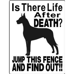 GREAT DANE ALUMINUM GUARD DOG SIGNS 2514A Everything Else