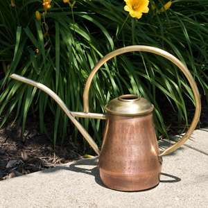 Hammered Antique Copper Watering Can