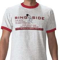 Ringside Live Red/White Ringer Tee Shirts by ringsidelive