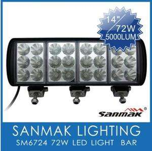 5000 Lumen 12V 24V LED DRIVING FLOOD WORK LIGHT BAR CAR TRUCK ATV SUV