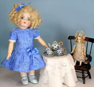 Darling Blue Dress w/Two Looks for Bleuette