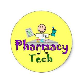 Pharmacy Tech Stick People Design Gifts Stickers from Zazzle