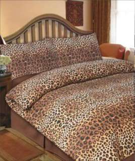 ANIMAL LEOPARD/ ZEBRA PRINT DUVET COVER SET