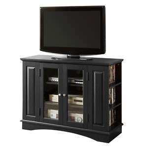 52 corner tall bedroom height tv stand console louvered
