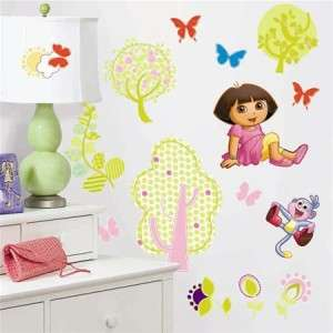 28 New DORA THE EXPLORER WALL STICKERS Girls Room Decals Pink