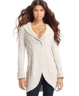 Its Our Time Sweater, V Neck Long Sleeve Cable Knit Long Cardigan