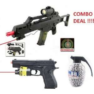 Double Eagle G36 M41GL Spring Airsoft Gun Rifle Laser, Red