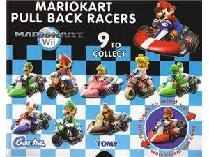 Super Mario Brothers Mario Kart Pull Back Racers Set of 9