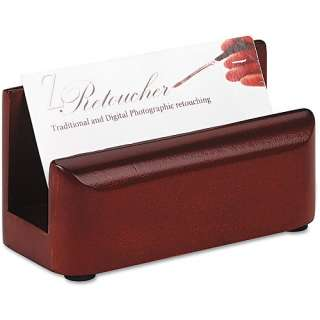 Rolodex Wood Tones Business Card Holder, Mahogany