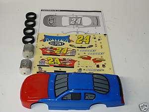 CHEVY JEFF GORDON SLOT CAR BODY KIT 132