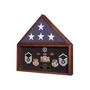 Flag and Medal Display case,Ceremonial Flag display: Home & Kitchen