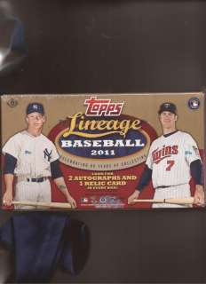 2011 TOPPS LINEAGE BASEBALL FACTORY SEALED BOX W/AUTOS