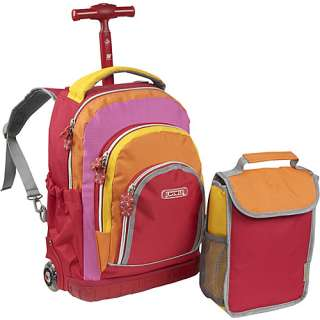 World Lollipop Kids Rolling Backpack with Lunch Bag