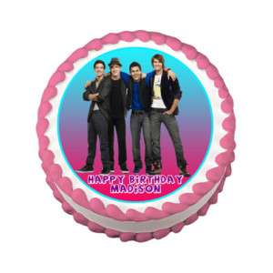 BIG TIME RUSH Edible Cake Image Party Decoration