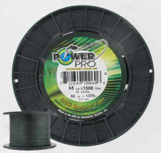 PowerPro Spectra Braided Fishing Line 65lb 1500yd Spool