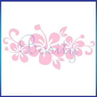 Pink Hibiscus Flower Decal Car Truck Window Sticker New