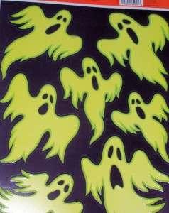 Halloween Window Cling~Ghosts Glows In Dark NEW