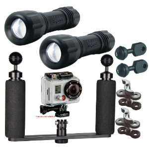 BigBlue Underwater LED Light System Kit for GoPro Action Video