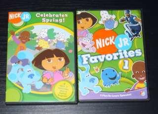 of 2 Nick Jr. Multi Show DVDs   Dora Explorer Little Bill Blues Clues