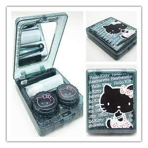Hello kitty Contact Lens Black Case Box Set & Mirror