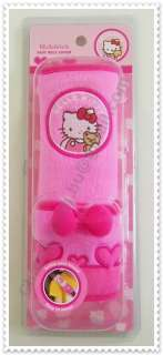 Hello Kitty Car Seat Belt Cover Plush Soft Safety Belt Cute Pink New