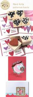 Decorative Stamps Hero Arts Rubber Stamp_Patterned Hearts(4EA)