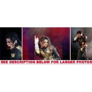MICHAEL JACKSON DANGEROUS TOUR STAGE (3) RARE 8x10 FINE