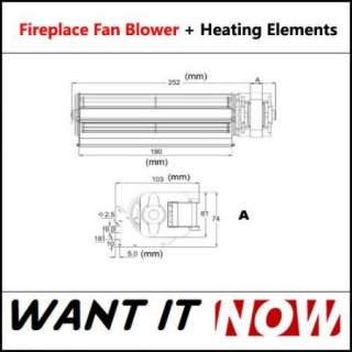 Heat Surge Electric Fireplace Replacement Blower Fan + Infrared