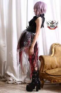 RTBU Gothic Visual Kei Multi Layer TRI Color FIRE Skirt