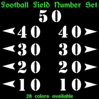 Football Field Mini Numbers Vinyl Decal Stickers Set
