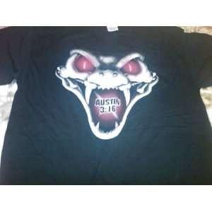 WWF WWE Stone Cold Steve Austin Extra Large Black T Shirt Rattlesnake