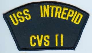 USS Intrepid CVS 11   U.S. Navy cap patch