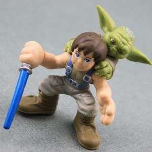 FREE SHIP STAR WARS GALACTIC HEROES HEROES Luke Skywalker YODA FIGURE