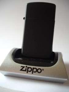 SLIM BLACK MATTE WINDPROOF ZIPPO LIGHTER NEW GIFT BOX