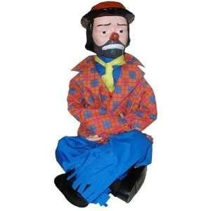 Emmett Kelly Jr 30 Ventriloquist Doll In Tote: Toys