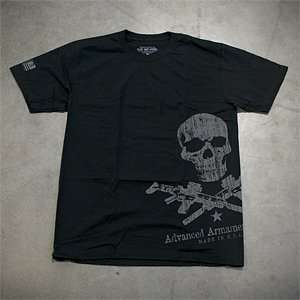 Advanced Armament Corp Apparel Large Black T Shirt X Guns