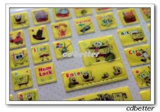 Spongebob Notebook Desktop Laptop Keyboard Stickers PVC